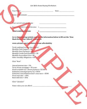 Home Buyers Worksheet Packet
