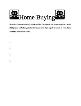 Home Buying Project
