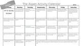 Home Calendar Activities October