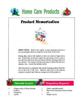 Home Care Products Lesson