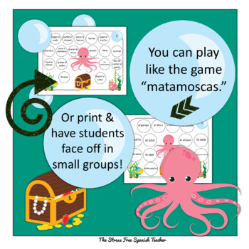 Home / Casa / Housing / Chores Spanish Vocabulary Game ~ Octopus On Guard