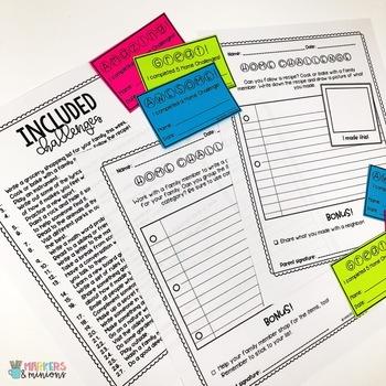Home Challenges - Social/Emotional Challenges for Homework