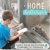 Home Challenges - Social Emotional Learning for Homework (English and Spanish)