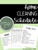 Home Cleaning Schedule FREEBIE
