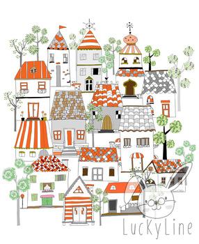 Home Clip art. Tree Clipart set, instant download, PNG ,JPEG file - 300 dpi