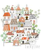 Home Clip art. Tree Clipart set, instant download, PNG ,JP