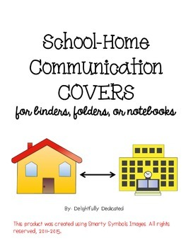Home Communication Binder, Folder, or Notebook Covers
