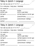 Speech and Language Home Communication FREEBIE!