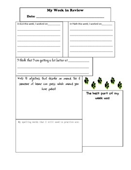 Home Communication Journal Sheets
