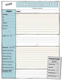 Home Communication Log and ABC Chart for Autism & Special