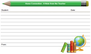 Home Connection form variety pack and Teacher-Home Connection Log