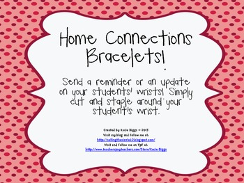 Home Connections bracelets