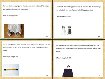 Life Skills: Home & Consumer Science Special Education Task Cards