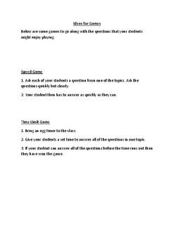 Home - ESL Question Sheets (Ages 6-12)