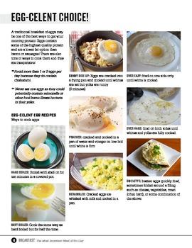 Home Economics/ Foods Studies Breakfast Unit
