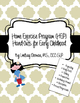 {UPDATED!} English Home Exercise Program (HEP) Hand-Outs for Early Childhood