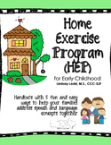{UPDATED!} English Home Exercise Program (HEP) Hand-Outs f