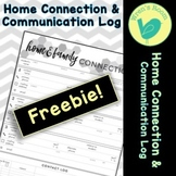 Home & Family Connection Communication Log - Black & White