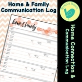 Home & Family Connection Communication Log - Coral