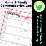 Home & Family Connection Communication Log - Pink