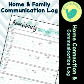 Home & Family Connection Communication Log - Teal