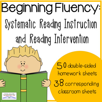 Beginning Reading Skills Fluency (kindergarten homework & reading intervention)