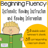 Beginning Reading Skills Fluency (kindergarten homework &