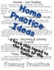 Home Fluency Practice - Student Take Home Folder