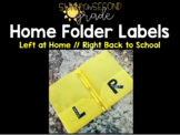 Home Folder Labels (Left at Home // Right Back to School)