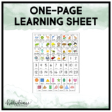 *English Version* Home Folder Learning - Alphabet, Numbers