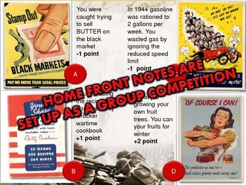 Home Front & American Heroes PowerPoint & Activity Bundle