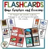 Home, Furniture & Ocassions Flashcards & Games {36 Flashca