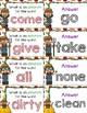 Home Grown Antonyms Quiz-Quiz-Trade Cards