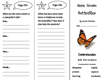 Home Grown Butterflies Trifold - Treasures 3rd Grade Unit 2 Week 2 (2011)