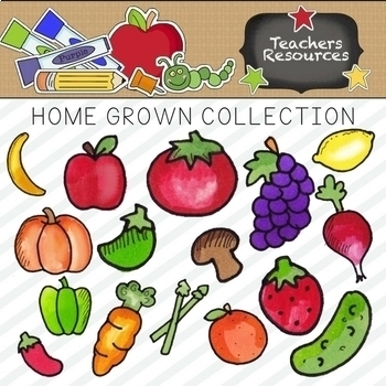 Home Grown Clipart Collection || Commercial Use Allowed