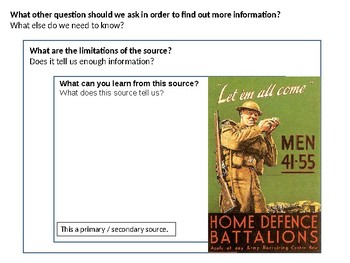 Home Guard Recruitment Source Analysis Activity