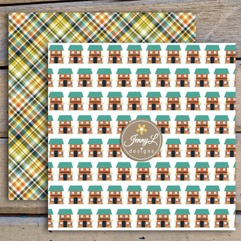Home House Digital Papers and Cliparts