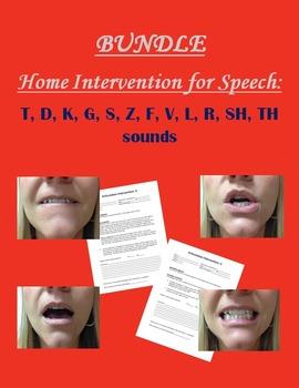 Home Intervention for Speech Bundle: T, D, K, G, S, Z, F, V, L, R, SH, TH sounds