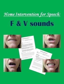 Home Intervention for Speech: F & V sounds