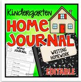 Kindergarten Writing Homework