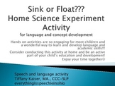Home Language Idea for parents- science experiment