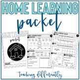 Special Education Distance Learning Packet