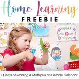 Home Learning Activity - 14 Days of activities for Kindergarten