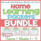 Home-Learning Bundle Packets(Scholastic Big Day for Pre-K)Theme 1 Weeks 1 - 4