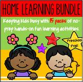 Distance Learning Bundle NO PREP for Preschool PreK -Alpha