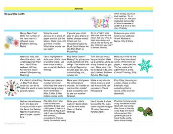 Home Learning Calendar - January