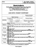 Home Learning Cover Sheet