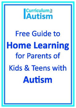Home Distance Learning Guide for Autism Parents