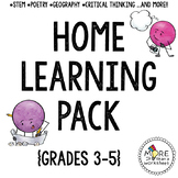Home Learning Pack {math project, STEM, creative thinking,