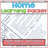 Home-Learning Packet(Pairs with Big Day for Pre-K)Theme 1 Week 4